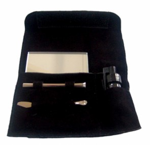 Large Suede Classic Snuff Kit