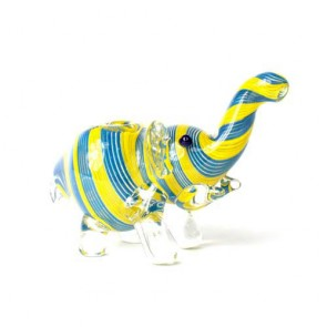 Glass Elephant Pipe
