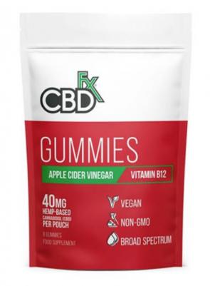 CBD +FX HEMP GUMMIES APPLE CIDER VINEGAR VITAMIN B12